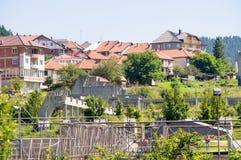 Stad Nova Varos i det västra Serbienet Arkivfoton