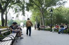 stad nya fyrkantiga washington york Royaltyfria Bilder