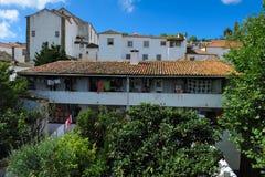 Stad Obidos, Portugal Stock Foto's