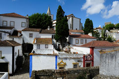 Stad Obidos, Portugal Royalty-vrije Stock Foto's