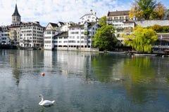 Stad och kanton för ZÃ-¼ rik i Schweiz i Europa arkivbild