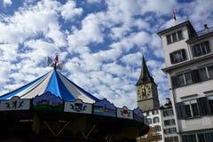Stad och kanton för ZÃ-¼ rik i Schweiz i Europa royaltyfri foto