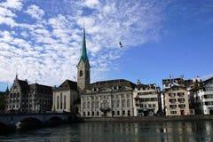 Stad och kanton för ZÃ-¼ rik i Schweiz i Europa royaltyfria bilder