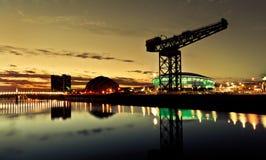 Stad od Glasgow Panorama Fotografering för Bildbyråer