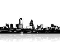 Stad op de rivieroever. Vector Royalty-vrije Stock Fotografie