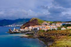 Stad op een kust Royalty-vrije Stock Foto