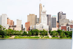 Stad op Ohio stock afbeelding