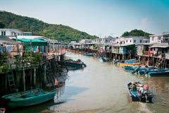 Stad op rivier in Hong Kong Royalty-vrije Stock Fotografie