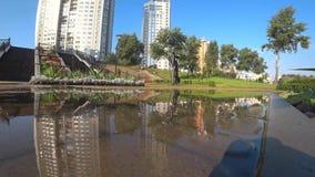Stad, openlucht, park, boom, Kiev, architectuur, stock videobeelden