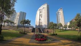 Stad, openlucht, park, boom, Kiev, architectuur, stock video