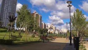 Stad, openlucht, park, boom, Kiev, architectuur, stock footage