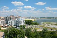 Stad på flodkusten Kazan, Ryssland Arkivbild