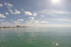 Stad på havet Royaltyfria Bilder