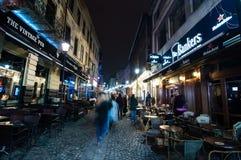 Stad på nätterna Arkivbilder