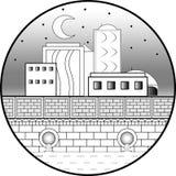 Stad på natten royaltyfri illustrationer