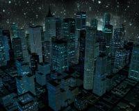 Stad på natten Arkivbilder