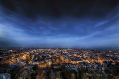 Stad på natten Arkivfoton