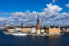 Stad på vattnet, Stockholm Fotografering för Bildbyråer