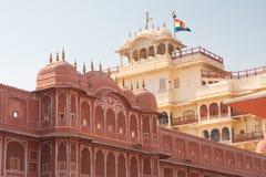 Stad Palace Jaipur Indien Royaltyfria Foton