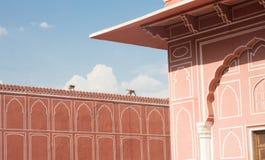 Stad Palace Jaipur Indien Arkivbilder