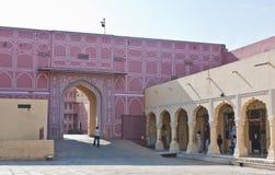 Stad Palace Jaipur Indien Arkivfoton