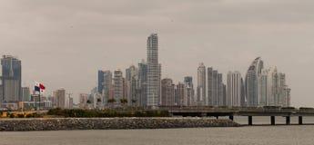 stad panama Arkivbild