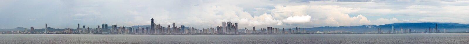 stad panorama- panama arkivfoto