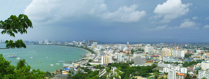 stad pattaya thailand Arkivbild
