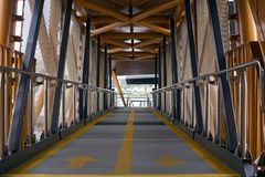 Stad Pier Walkway Stock Afbeelding