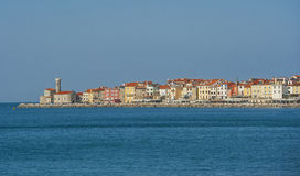 Stad Piran, Adriatische overzees, Slovenië Stock Afbeelding