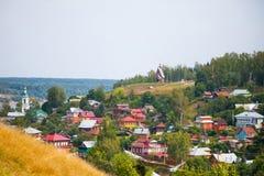 Stad Plyos, Ivanovo region Arkivbilder