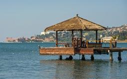 Stad Portoroz, Adriatische overzees, Slovenië Royalty-vrije Stock Afbeeldingen