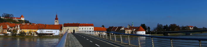 Stad Ptuj Royalty-vrije Stock Foto's