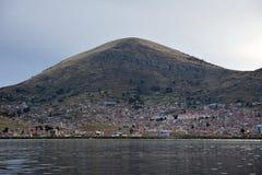 Stad Puno, Peru Stock Foto