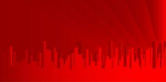 Stad Redscape Arkivfoto