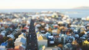 stad reykjavik Royaltyfri Fotografi