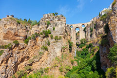 Stad Rhonda, Spanien Arkivbild