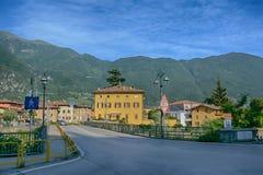 Stad Riva del Garda, Italien Arkivfoton