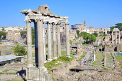 stad rome roman fora Royaltyfri Foto
