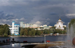 Stad in Rusland oeralgebergte Ekaterinburg Stock Foto's
