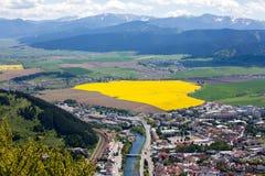 Stad Ruzomberok, Slowakije Stock Foto's