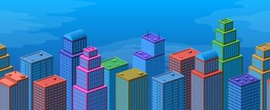 Stad sömlös bakgrund Arkivbild