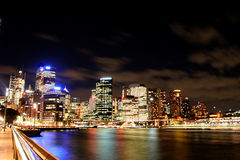 Stad 's nachts 04 Stock Afbeelding