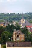 Stad Saarburg Arkivbilder