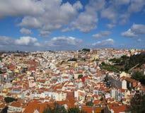 Stad-scape av Lissabon arkivfoton