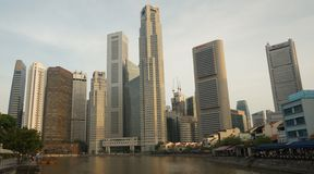 Stad Scape - Singapore Arkivfoton