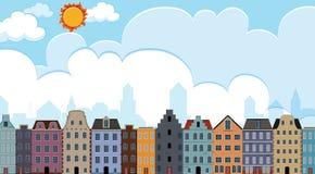 Stad scapes van de bouw royalty-vrije illustratie
