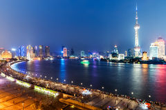 stad shanghai Arkivbild