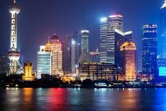 stad shanghai Arkivfoto