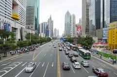 stad shenzhen arkivfoto